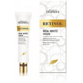DEOPROCE PREMIUM RETINOL REAL WHITE CREAM 40ml - крем с ретинолом для век и носогубных складок