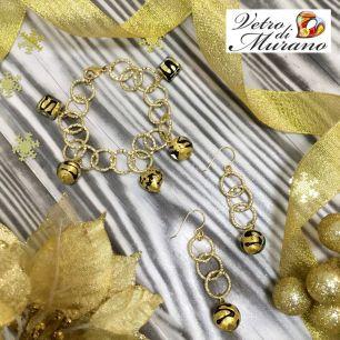 Браслет цвет золото муранское стекло