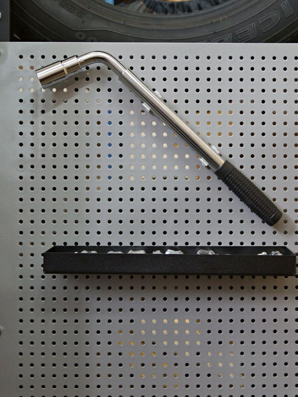 Металлический лоток для перфорированной панели 315х25х70мм