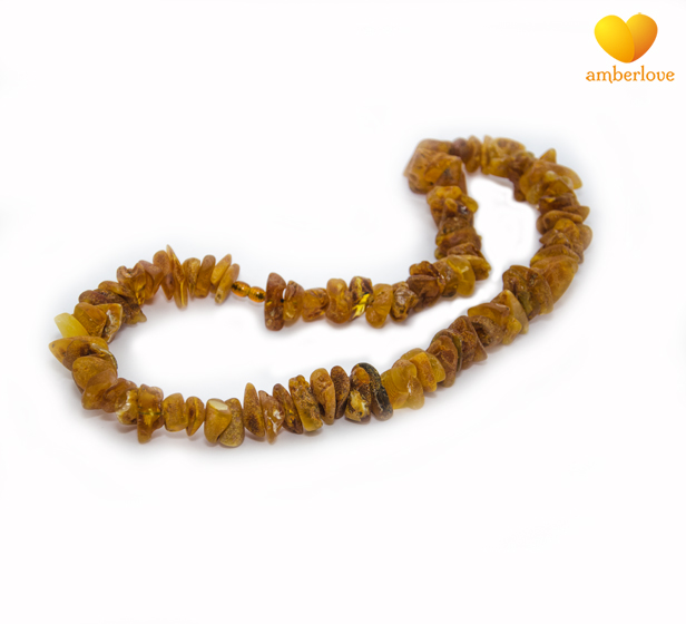 Бусы из необработанного янтаря вес от 13-16 грамм.