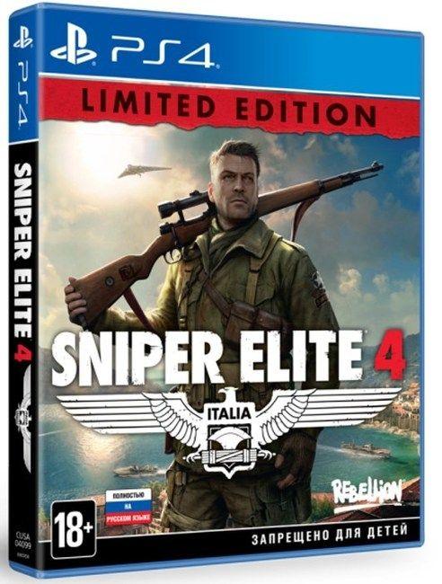 Игра Sniper Elite 4 (PS4, русская версия) Limited Edition