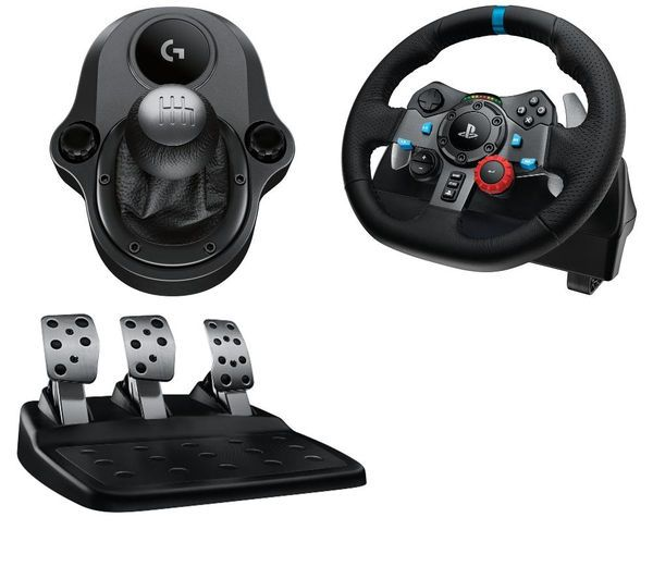 Игровой руль Logitech G29 Driving Force + коробка передач Force Shifter