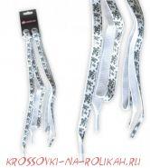 Шнурки светящиеся  в темноте Heelys White Glow Scull