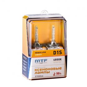 Ксеноновые лампы MTF ABSOLUTE VISION  D1S +50% 3700lm