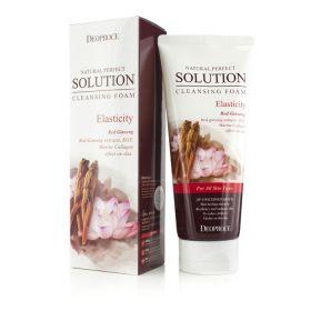 Deoproce Natural Perfect Solution Cleansing Foam Energy 170g - Пенка с экстрактом красного женьшеня, коллагеном и EGF