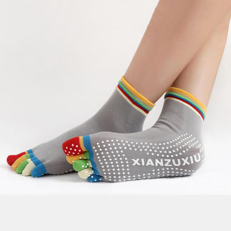 """Носочки """"5 пальчиков"""" (Разноцветные) для йоги, пилатеса и фитнеса"""