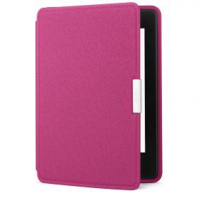Кожаная обложка для Kindle Paperwhite оригинальная розовая (Fuchsia)