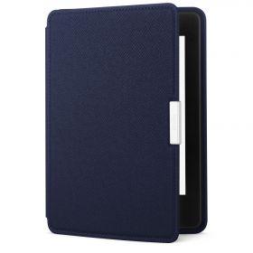 Кожаная обложка для Kindle Paperwhite оригинальная синяя (Blue)