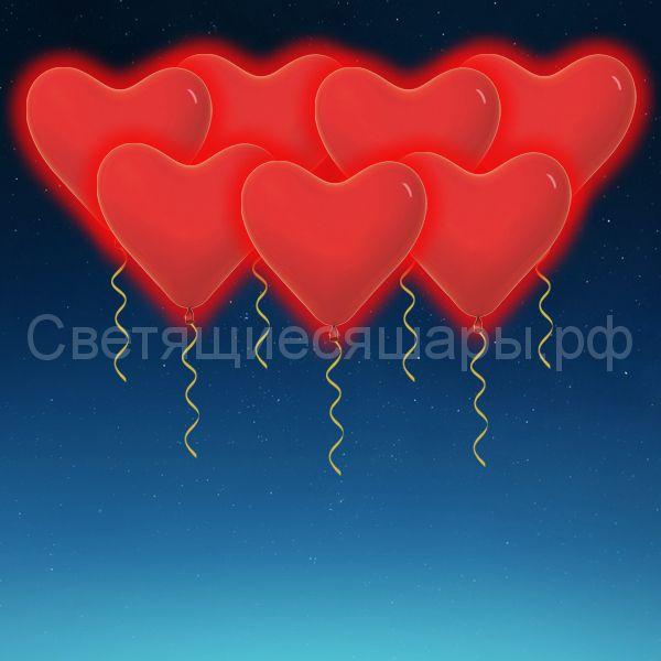 Сердце светящееся 40 см (красное)