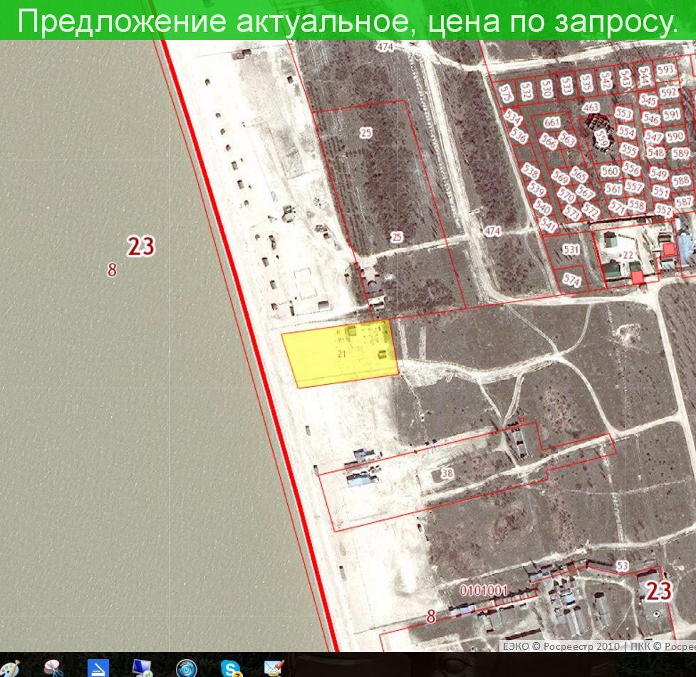 Участок на берегу Азовского моря 0.5 га.( собственность) Краснодарский край станица Должанская.