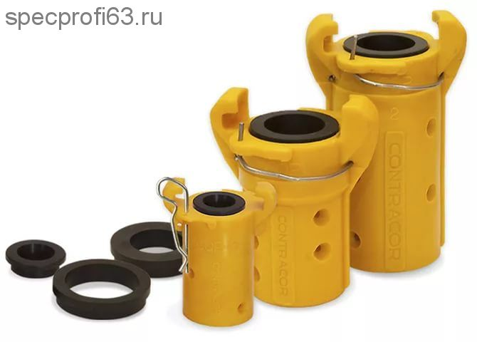 Сцепление байтное d-25, d-32 для пескоструйных шлангов (пластик)