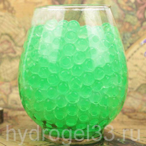 Гидрогель аквагрунт 1 см салатовый (2000 шт)