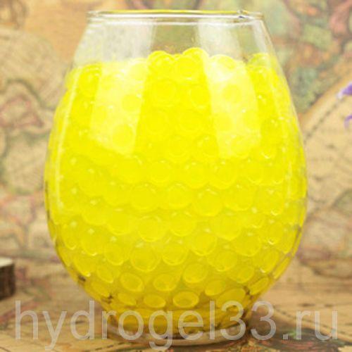 Гидрогель аквагрунт 1 см желтый (2000 шт)