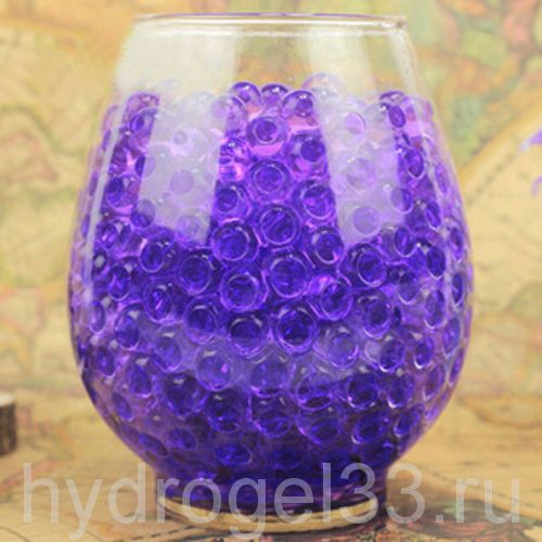 Гидрогель аквагрунт 1 см фиолетовый (2000 шт)