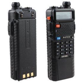 Рация Baofeng UV-5R c увеличенным аккумулятором Baofeng 3800 мАч (черная)