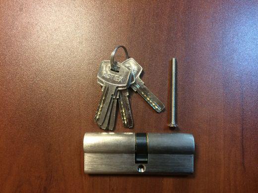 Профильный цилиндр (вкладыш замка) 35/45, 40/40, 40/45, 45/45 ключ/ключ