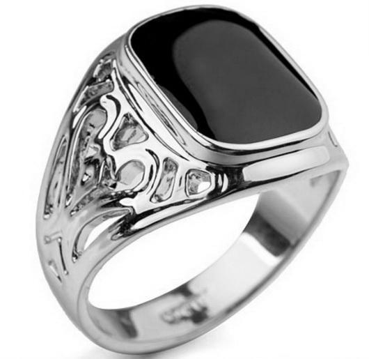 Перстень платина с агатом