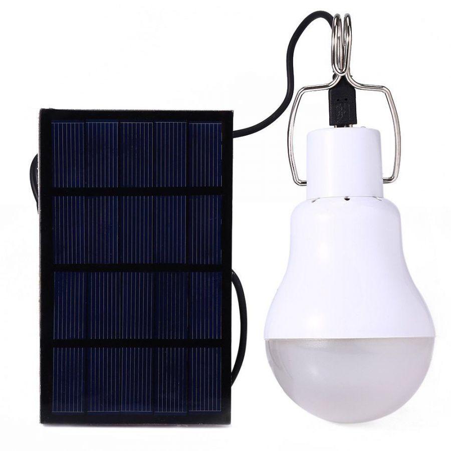 Лампа с подзарядкой от солнечной батареи