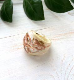 Кольцо со спиральным узором