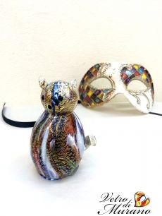 Фигурка  Кошечка  муранское стекло