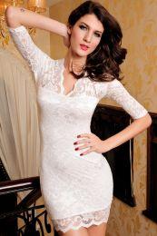 Белоснежное кружевное платье