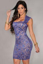 Кружевное мини платье