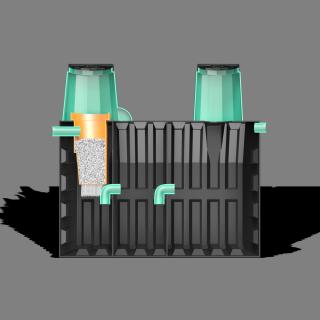 Локальная очистная установка «ТЕРМИТ-ПРОФИ-3,5Ф» 3,5 м3(рассчитан на 8-10 проживающих человек)