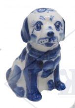 Собака Гжель Тимофей 7,5х4х5,5см