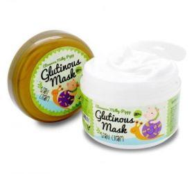 Elizavecca Milky Piggy Glutinous Mask Snail Cream 100g - Нежная крем-маска для лица на основе улиточной слизи 80% и масла Арганы