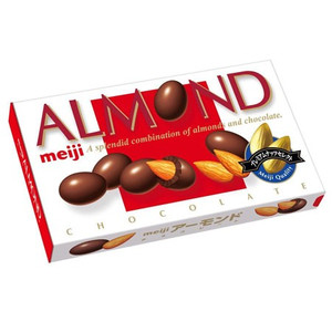 Миндаль в шоколаде Almond Chocolate т.м.«Meiji»  88 гр