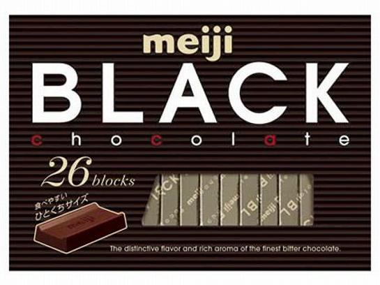 Черный шоколад т.м.«Meiji» 120 гр