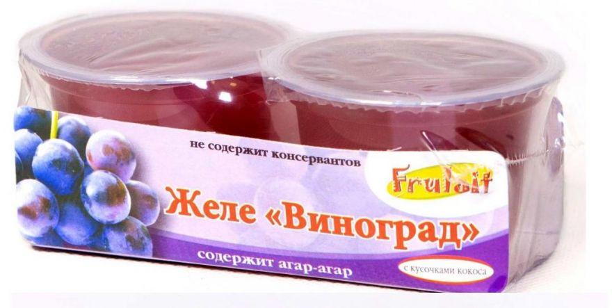 Желе «Frulait» Виноградное 236 гр