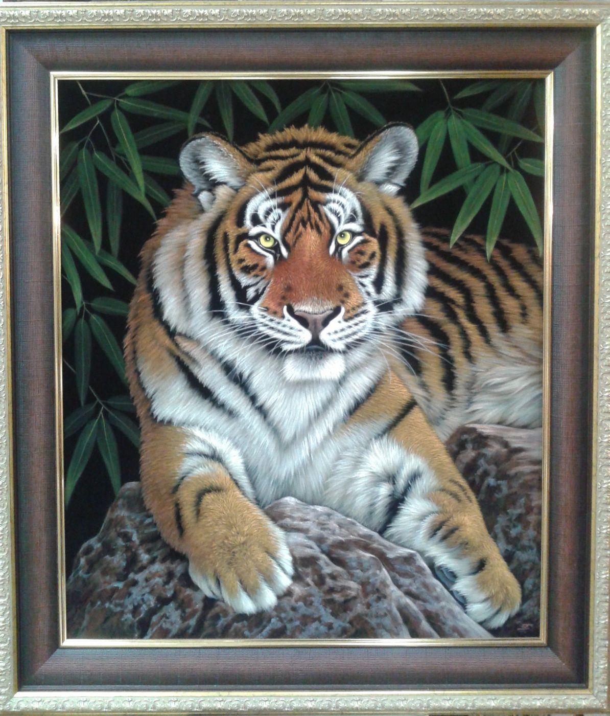 """Картина """"Молодой тигр""""."""