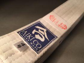 Белый пояс (White-obi)  из Японии (AIKI) модель - DELUXE