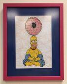 Схема для вышивки крестом Гомер. Отшив.