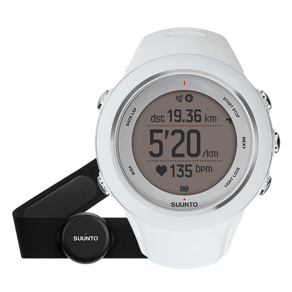 Suunto Ambit3 sport white (HR) часы с пульсометром и GPS для многоборья