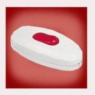 Выключатель для бра белый/красный