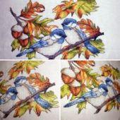 "Cross stitch pattern ""Hard-working birds""."