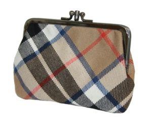 Шотландский кошелёк (клатч) тартан клана Томсон Кэмэл