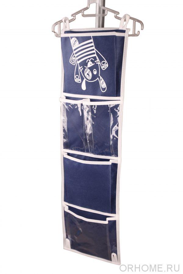 Подвесной кармашек на двери детского шкафчика