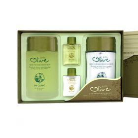 3W Clinic Olive For Man Fresh 2 Items Set - Набор с экстрактом оливы для ухода за мужской кожей