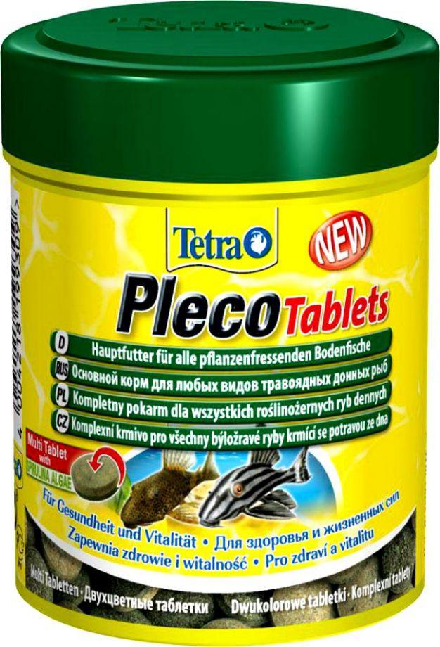 TetraPlecoTablets корм со спирулиной для сомов и донных рыб