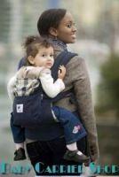 Слинг-рюкзак ERGO Baby CARRIER Эргономичный детский рюкзачок-переноска для малышей «ORGANIC COLLECTION Highland Navy Plaid» [Эрго BCO417NP тёмно-синий/синяя клетка]
