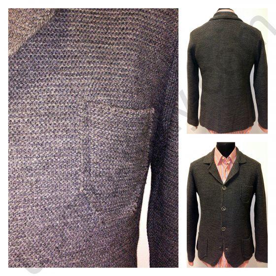 Пиджак серый трикотажный  Nous
