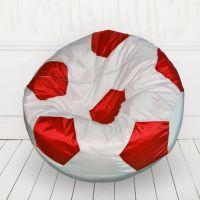 Кресло мяч Белый с красным