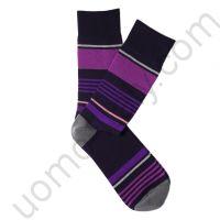 Носки Tezido синие с лиловой полоской