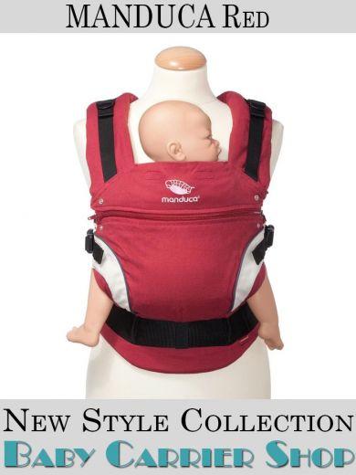Слинг-рюкзак MANDUCA Baby And Child Carrier Эргорюкзак для переноски малышей «Red NewStyle» [Мандука слингорюкзак Красный]