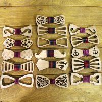 Деревянный галстук бабочка