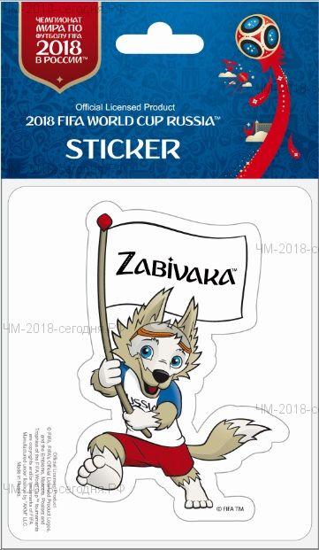 FIFA-Наклейка бумажная фигурная Забивака с флагом 90 мм