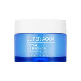 MISSHA Super Aqua Ice Tear Sleeping Mask 100ml - Ночная освежающая маска для лица